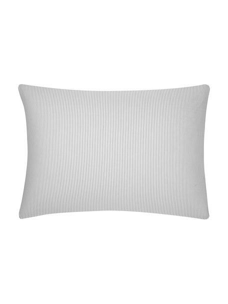 Funda de almohada de algodón Ellie, 50x70cm, Blanco, gris, An 50 x L 70 cm