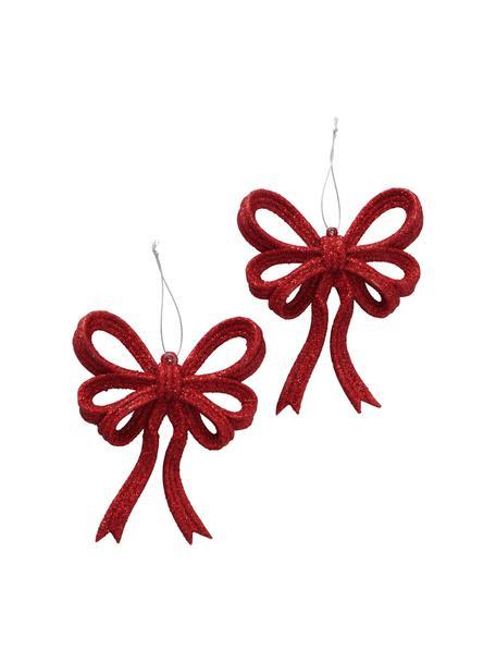 Adornos navideños Yva, 2uds., Adornos: plástico, Rojo, An 11 x Al 14 cm