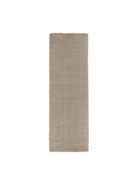 Puszysty chodnik z wysokim stosem Leighton, Beżowo-brązowy, S 80 x D 250 cm