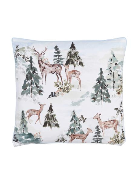 Design kussenhoes Forest van Candice Gray, 100% katoen, GOTS gecertificeerd, Multicolour, 45 x 45 cm