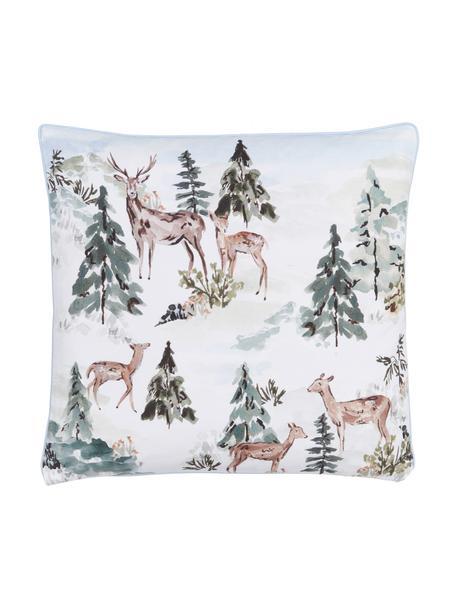 Federa arredo Forest, 100% cotone, certificato GOTS, Multicolore, Larg. 45 x Lung. 45 cm