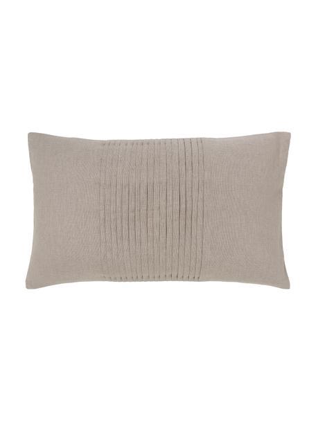 Poszewka na poduszkę Dalia, 55% len, 45% bawełna, Beżowy, S 30 x D 50 cm