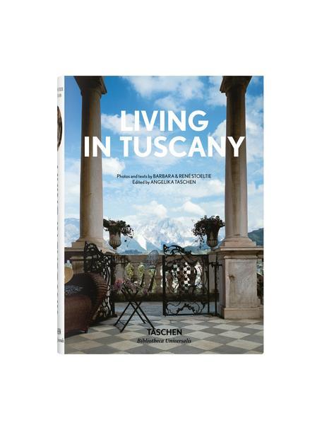 Geïllustreerd boek Living in Tuscany, Papier, hardcover, Blauw, multicolour, 14 x 20 cm