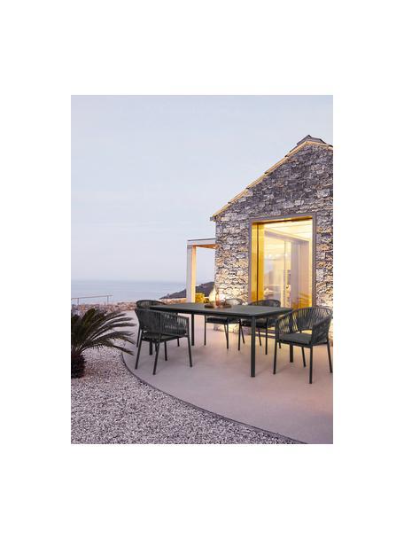 Grijze tuinstoel Florencia, stapelbaar, Frame: gepoedercoat aluminium, Antraciet, 60 x 80 cm