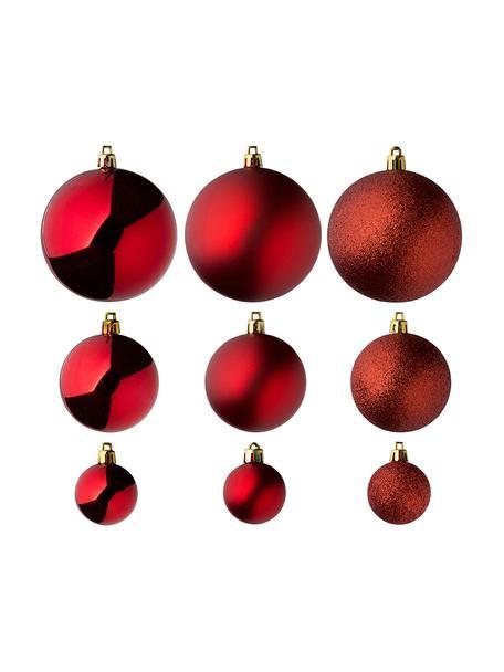 Bruchfestes Weihnachtskugel-Set Natalie, 46-tlg., bruchfester Kunststoff, rot, Set mit verschiedenen Grössen