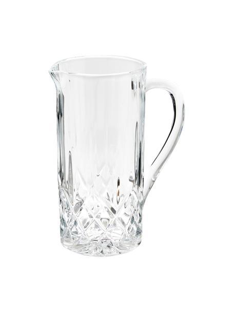 Kristallen karaf Opera met reliëf 1,2 L, Luxion-kristalglas, Transparant, H 23 cm