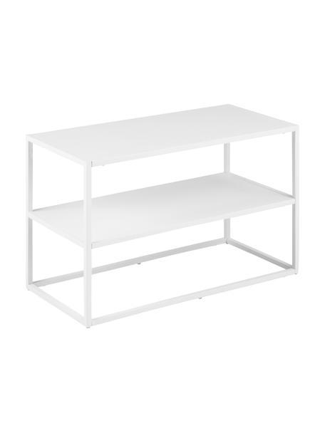 Metall-Schuhregal Newton in Weiß, Metall, pulverbeschichtet, Weiß, 70 x 45 cm