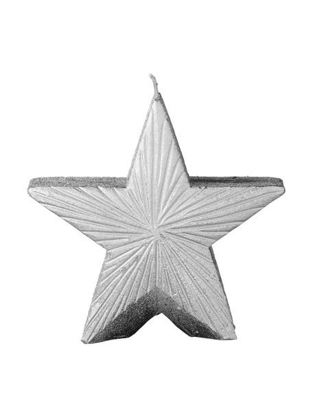 Kerze Nordic H 11 cm, Wachs, Silberfarben, 12 x 11 cm