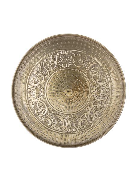 Decoratief dienblad Conan van metaal, Ø 40 cm, Gecoat metaal, Messingkleurig, Ø 40 cm