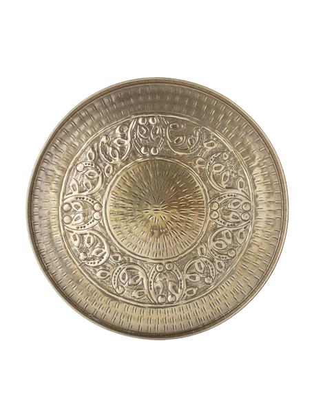 Vassoio decorativo in metallo Conan, Metallo rivestito, Ottonato, Ø 40 cm