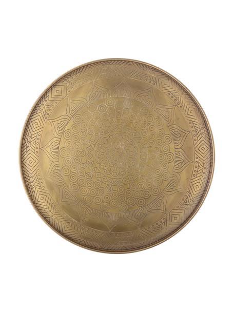 Taca dekoracyjna z metalu Conan, Metal powlekany, Odcienie mosiądzu, Ø 40 cm