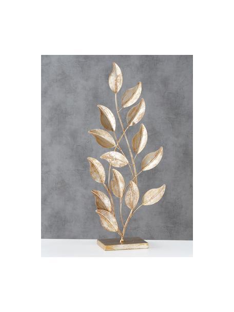 Dekoracja z metalu Lingua, Metal lakierowany, Odcienie złotego, S 30 x W 74 cm