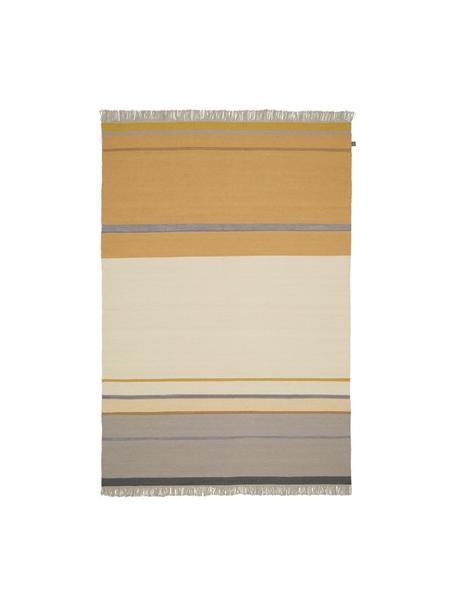 Tappeto in lana tessuto a mano con frange Metallum, Multicolore, Larg. 140 x Lung. 200 cm (taglia S)