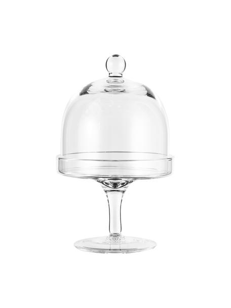 XS Etagere Dolce aus Glas, Ø 12 cm, Glas, Transparentny, H 20 cm