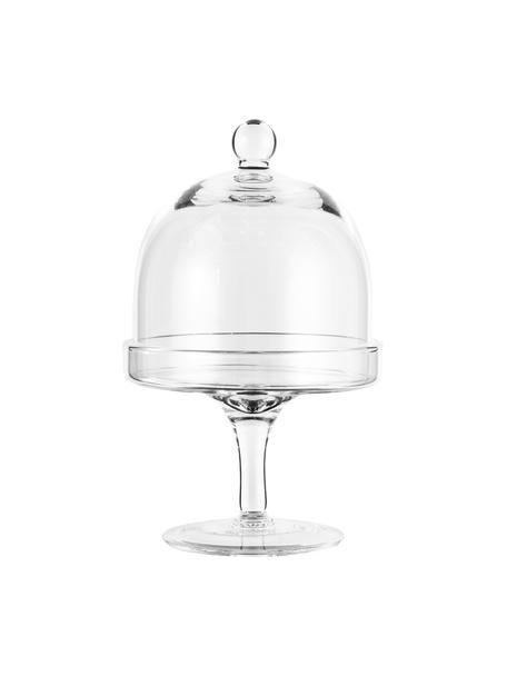 XS taartplateau Dolce van glas, Ø 12 cm, Glas, Transparant, H 20 cm