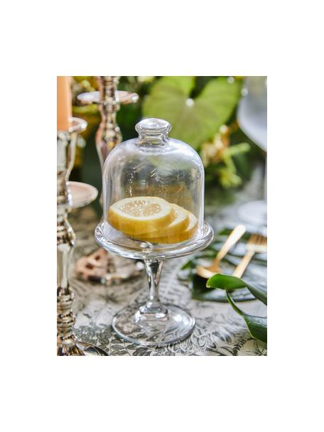 Campana fuente para postre pequeña Dolce, Vidrio, Transparente, Al 20 cm