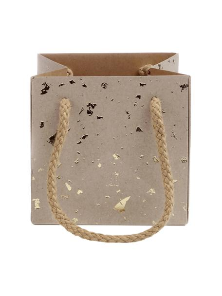 Sacchetti regalo Carat, 3 pz., Marrone, dorato, Larg. 11 x Alt. 11 cm