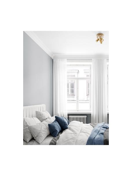 Kleine plafondspot Correct in goudkleur, Lampenkap: gecoat metaal, Frame: gecoat metaal, Baldakijn: gecoat metaal, Goudkleurig, Ø 20 x H 14 cm