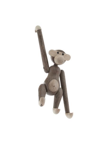 Oggetto decorativo di design in legno Monkey, Legno di quercia verniciato, Legno di quercia, Larg. 20 x Alt. 19 cm