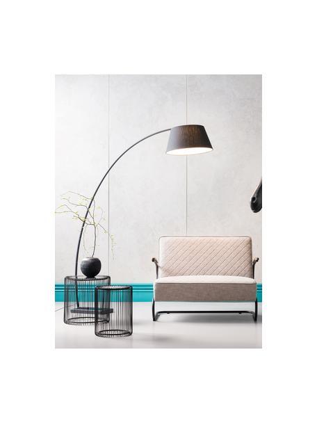 Set de mesas de centroWire, 2pzas., tablero de cristal, Estructura: metal con pintura en polv, Tablero: vidrio de seguridad lamin, Negro, Set de diferentes tamaños