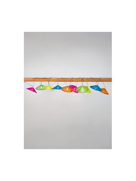 Guirnalda de luces Umbrella, 165cm, 10luces, Linternas: algodón, Cable: plástico, Multicolor, L 165 cm