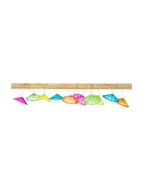LED lichtslinger Umbrella, 165 cm, 10 lampions, Lampions: katoen, Multicolour, L 165 cm