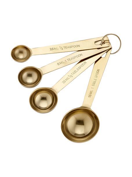 Set de cucharas medidoras Lawson, 4pzas., Acero inoxidable galvanizado, Latón, Set de diferentes tamaños