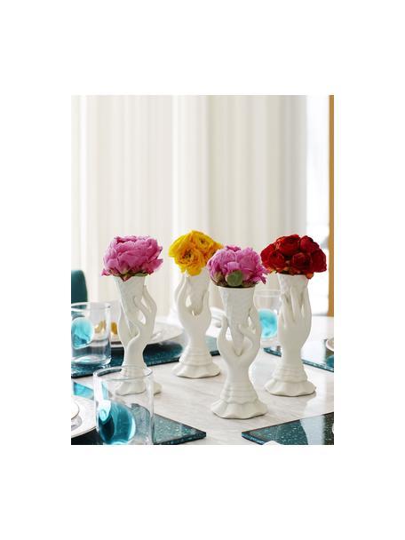 Kleine Vase I-Scream aus Porzellan, Porzellan, Weiss, Ø 7 x H 18 cm