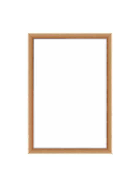 Bilderrahmen Accent, Rahmen: Aluminium, beschichtet, Front: Glas, Rückseite: Mitteldichte Holzfaserpla, Kupferfarben, 10 x 15 cm