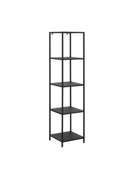 Libreria in metallo nero Newton, Metallo verniciato a polvere, Nero, Larg. 35 x Alt. 146 cm