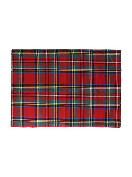 Manteles individuales Dublino, 2uds., 90%algodón, 10%poliéster, Rojo, multicolor, An 35 x L 50 cm