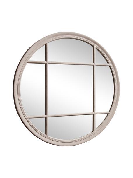 Okrągłe lustro ścienne z drewnianą ramą Eccleston, Beżowy, Ø 100 x G 4 cm