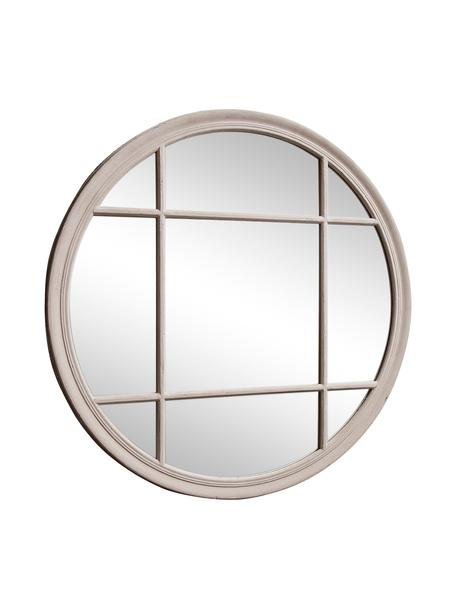 Specchio rotondo da parete Eccleston, Cornice: legno, verniciato, Superficie dello specchio: lastra di vetro, Greige, Ø 100 x Prof. 4 cm