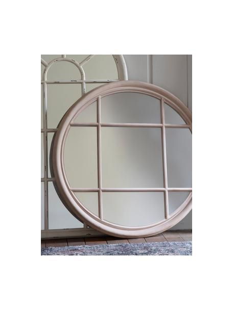 Specchio rotondo da parete Eccleston, Cornice: legno, verniciato, Superficie dello specchio: lastra di vetro, Greige, Ø 100 cm