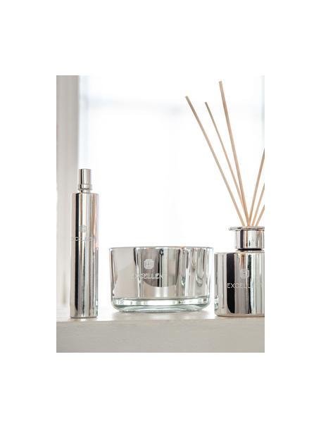 Candela profumata a tre stoppini Excellent (zucchero filato), Contenitore: vetro, Argentato, Ø 14 x Alt. 9 cm