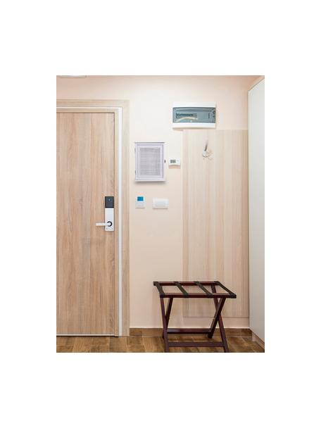 Estante para llaves de madera Cayetana, Tablero de fibras de densidad media(MDF) pintado, Blanco, An 25 x Al 31 cm
