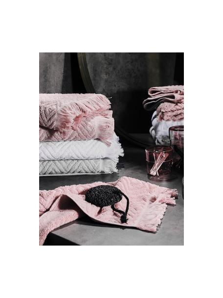 Handdoekenset Jacqui, 3-delig, 100% katoen, middelzware kwaliteit, 490 g/m², Lichtgrijs, Set met verschillende formaten