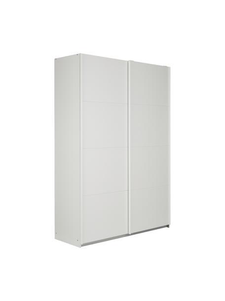 Kleiderschrank Mia mit 2 Schiebetüren in Weiß, Holzwerkstoff, beschichtet, Weiß, 135 x 210 cm