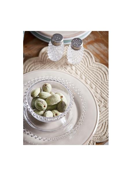 Set saliera e pepiera Perles 2 pz, Contenitore: vetro, Trasparente, metallo, Ø 5 x Alt. 9 cm