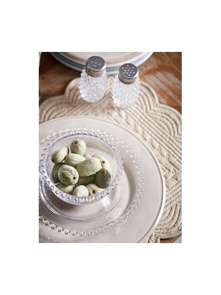 Zout- en peperstrooier Perles, Glas, metaal, Transparant, metaalkleurig, Ø 5 cm