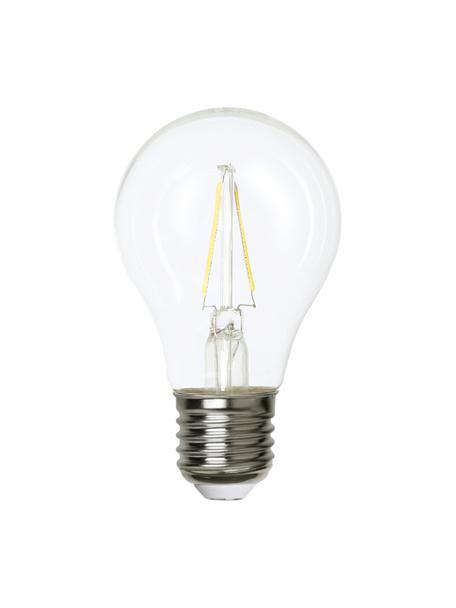 E27 peertje, 2 watt, warmwit, 1 stuk, Peertje: glas, Fitting: aluminium, Transparant, Ø 6 x H 11 cm