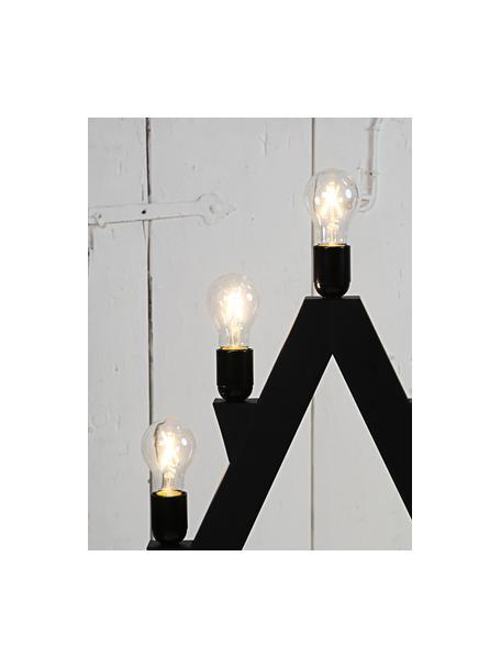 E27 Leuchtmittel, 2W, warmweiss, 1 Stück, Leuchtmittelschirm: Glas, Leuchtmittelfassung: Aluminium, Transparent, Ø 6 x H 11 cm