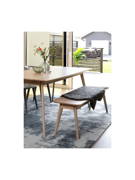 Tavolo stile nordico in legno di quercia Yumi, Piano d'appoggio: pannello di fibra a media, Gambe: albero della gomma massel, Legno di quercia, Larg. 190 x Prof. 90 cm