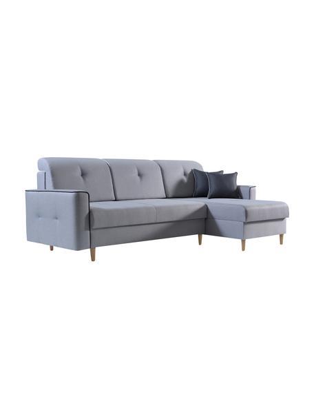 Sofa narożna z funkcją spania i miejscem do przechowywania Hilton (4-osobowa), Tapicerka: 100% poliester, Szary, S 234 x G 146 cm
