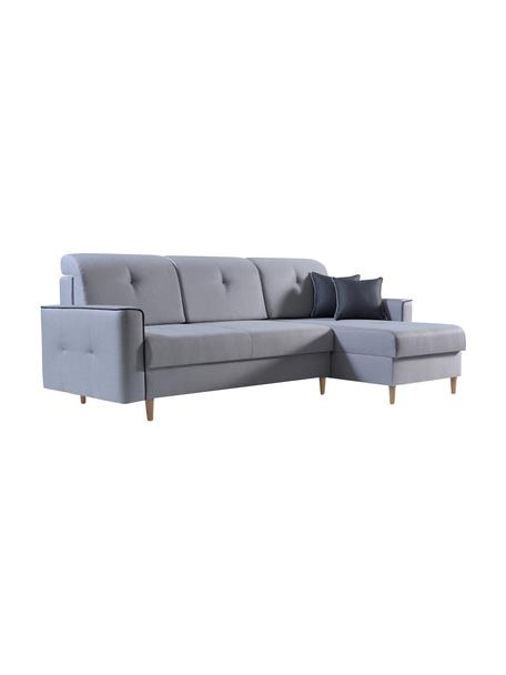 Sofa narożna z funkcją spania i schowkiem Hilton (4-osobowa), Tapicerka: 100% poliester, Szary, S 234 x G 146 cm