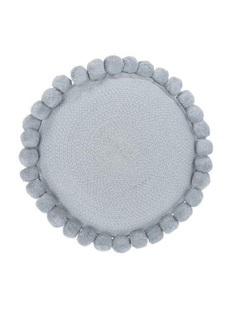 Cuscino arredo grigio con pompon Deva, Grigio, Ø 40 cm