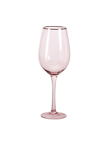 Copas de vino Chloe, 4uds., Vidrio, Melocotón, Ø 9 x Al 26 cm