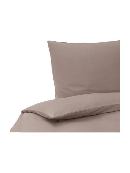 Pościel z flaneli Biba, Taupe, 135 x 200 cm + 1 poduszka 80 x 80 cm