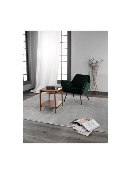 Stolik pomocniczy z drewna dębowego Libby, Stelaż: lite drewno dębowe, lakie, Ciemny brązowy, S 49 x W 50 cm