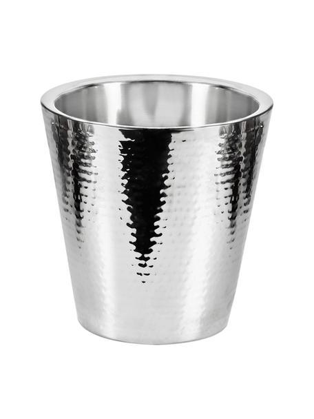Flessenkoeler Valencia, gehamerd, Gehamerd edelstaal, Zilverkleurig, H 23 cm